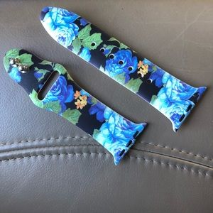 Accessories - Blue Floral Apple Watchband